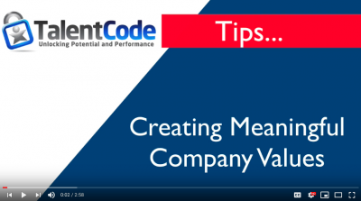 Creating Meaningful Company Values -