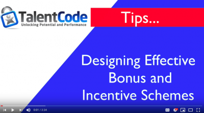 Talent Code Tips: Effective Bonus and Incentive schemes -